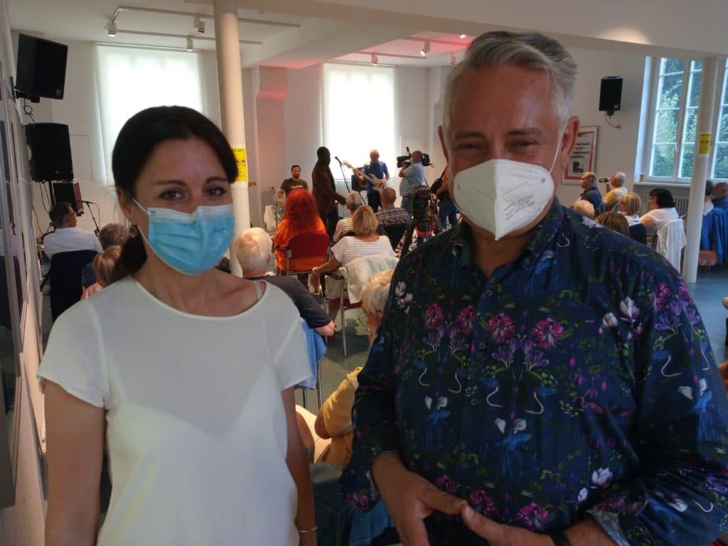 Referentin Christina Tsiakiris und Christian Jung